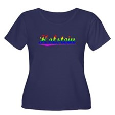 Holstein, Rainbow, Women's Plus Size Scoop Neck Da