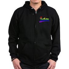 Jeter, Rainbow, Zip Hoodie