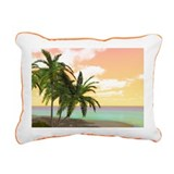 Dreamy Desert Island Rectangular Canvas Pillow