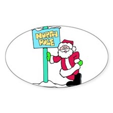 North Pole Santa Decal