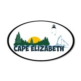 Cape Elizabeth ME - Beach Design. Wall Decal