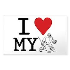 I Love My Goalie (hockey) Decal