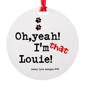 Louie Name Round Ornament