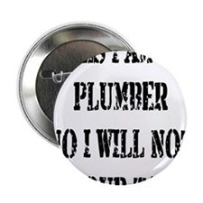 "I will not fix your toilet! 2.25"" Button"
