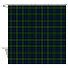 Black Watch Tartan Celtic Shower Curtain