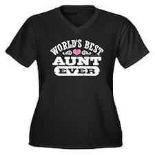 World's Best Aunt Ever Women's Plus Size V-Neck Da