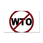 3-No WTO.png Rectangle Car Magnet