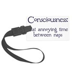 Consciousness-Naps.png Large Luggage Tag