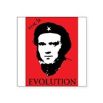 VivaDarwin Red Black Evolution.png Square Sticker