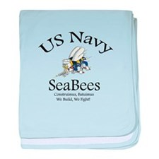 SeaBee Shirt Photo baby blanket