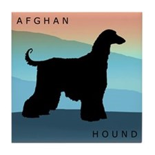 Cute Afghan hound Tile Coaster