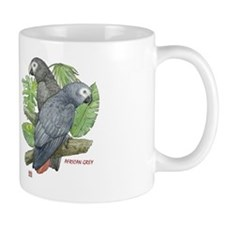 Tropical African Greys Small Mug