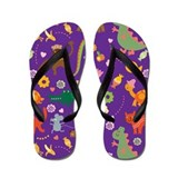 Cute Jungle Animals Flip Flops