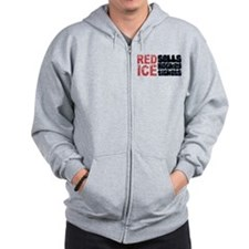 Red Ice Sells Hockey Tickets Zip Hoodie