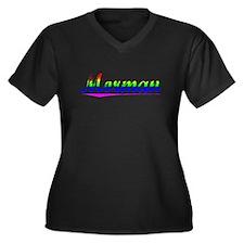 Morman, Rainbow, Women's Plus Size V-Neck Dark T-S
