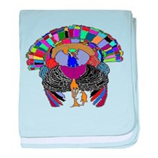 Turkey With Attitude baby blanket