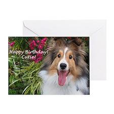 Happy Birthday Cutie! Greeting Card