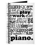 Piano Practice All day Journal