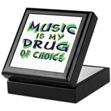 Music Is My Drug (grn) Keepsake Box