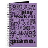 Eat Sleep Dream Piano Music Practice Journal