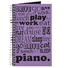 Eat Sleep Dream Piano Music Practice Journal