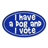 Have Dog and Vote Oval Decal
