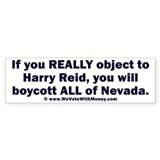 Boycott All of Nevada 1 Bumper Sticker