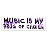 Music Is My Drug (pr) Car Sticker