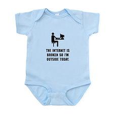 Broken Internet Outside Infant Bodysuit