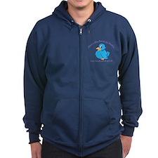 Blue Bird Zip Hoodie