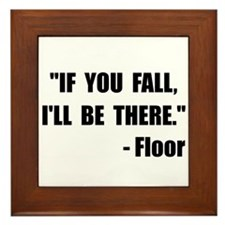 Fall Floor Quote Framed Tile