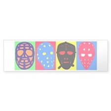 Vintage Hockey Goalie Masks Bumper Sticker
