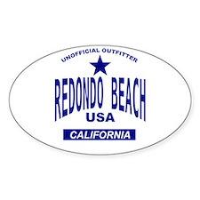Rodondo Beach (CA) Oval Decal