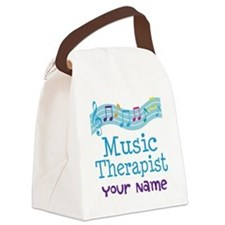 Personalized Music Therapist Canvas Lunch Bag