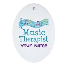Personalized Music Therapist Ornament (Oval)