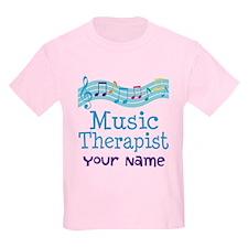 Personalized Music Therapist Kids Light T-Shirt