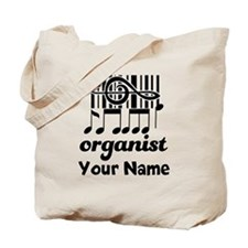 Personalized Organist Tote Bag