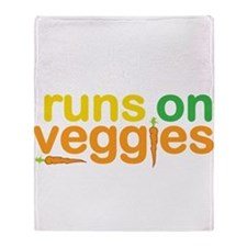 Runs On Veggies Throw Blanket