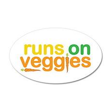 Runs On Veggies 35x21 Oval Wall Decal
