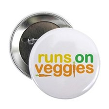 "Runs On Veggies 2.25"" Button (100 pack)"