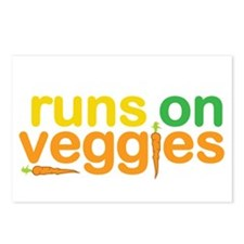 Runs On Veggies Postcards (Package of 8)