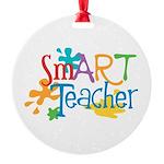 SmART Art Teacher Round Ornament