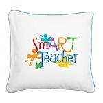 SmART Art Teacher Square Canvas Pillow