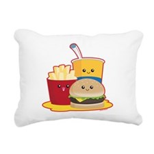 Fast Food Rectangular Canvas Pillow