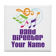 Personalized Band Director Tile Coaster