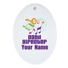 Personalized Band Director Ornament (Oval)