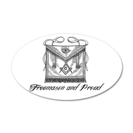 Freemason and Proud 20x12 Oval Wall Decal