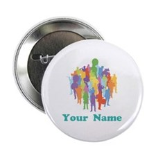 "Personalized Marching Band 2.25"" Button"