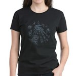 Masonic Fantasy Blue Women's Dark T-Shirt
