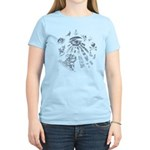 Masonic Fantasy Blue Women's Light T-Shirt